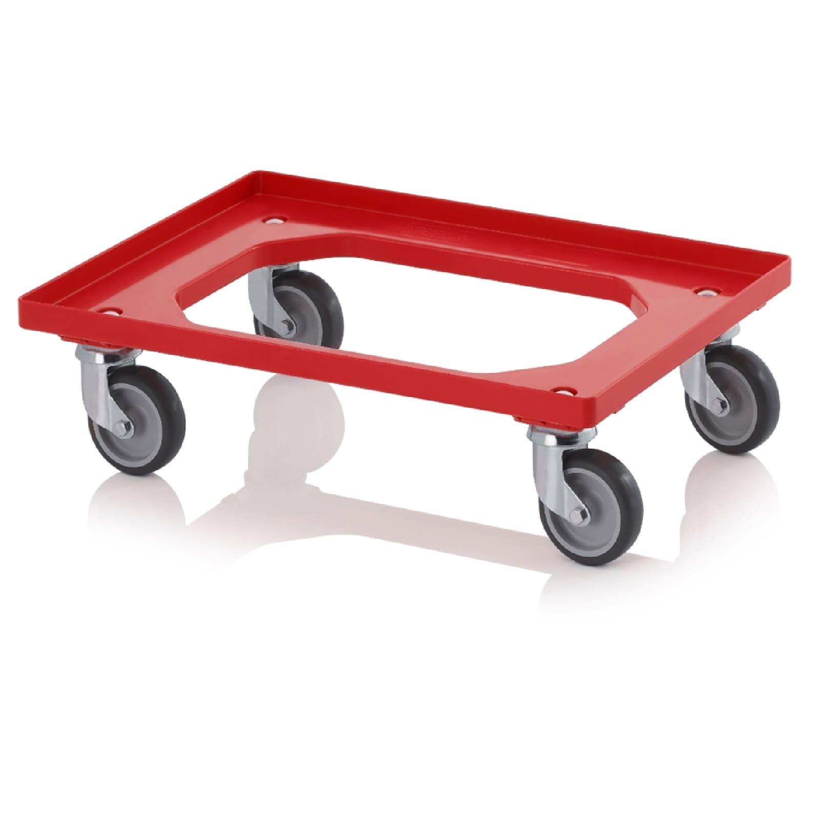 Carrello per contenitori in plastica con 4 ruote girevoli for Contenitori in pvc per esterni