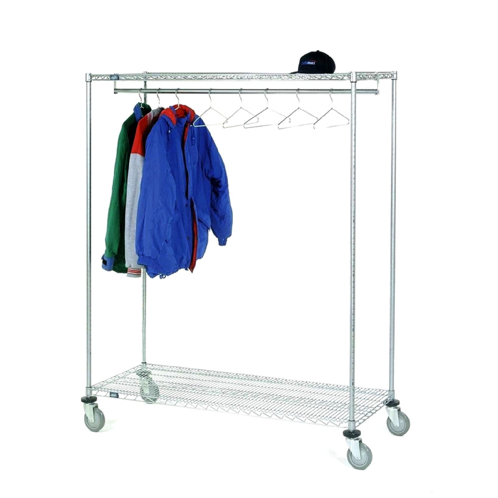 Carrello porta abiti in acciaio per capi appesi - Porta abiti con ruote ...