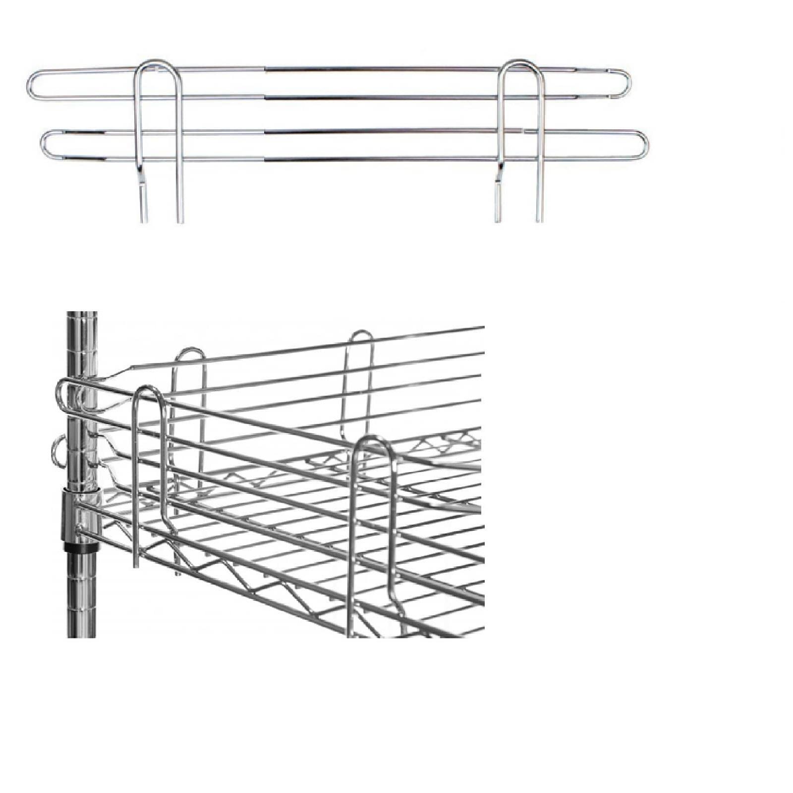 Spondine in acciaio cromato per scaffali e librerie in - Scaffali in acciaio per cucina ...