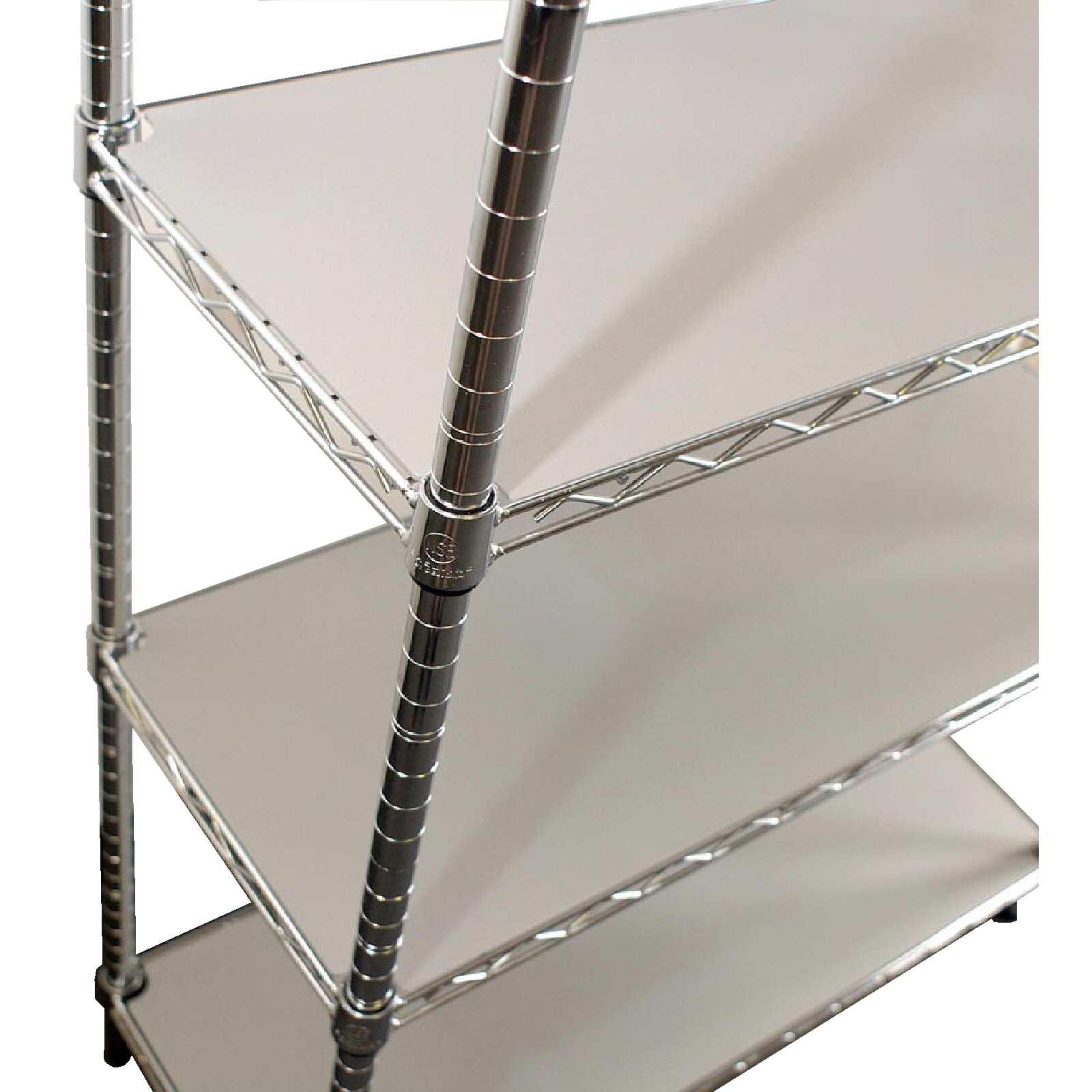 Copri piano in plastica per ripiani cromati for Piani di coperta 20x20